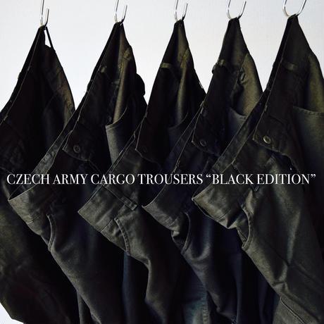 """【メガヒットカーゴを黒染め!】MILITARY DEADSTOCK   チェコ軍 カーゴパンツ """"BLACK EDITION"""""""