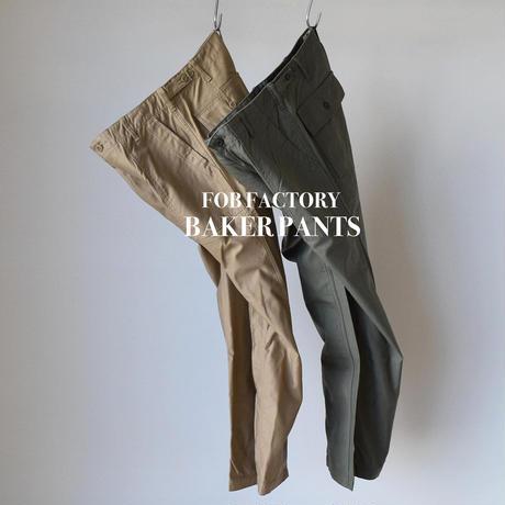 F.O.B FACTORY BAKER PANTS バックサテン ベイカーパンツ