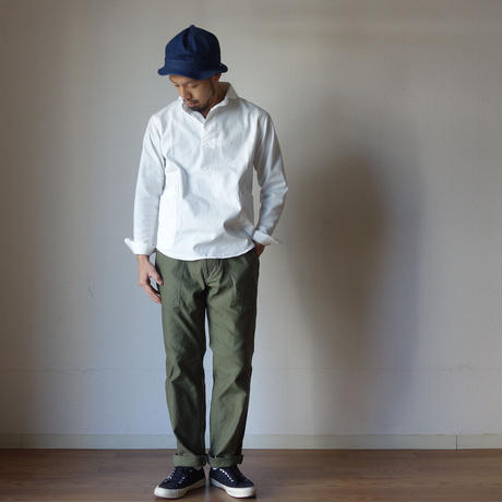【定番アイテム】LOLO ロロ 定番プルオーバーシャツ WHT ホワイト UNISEX 男女兼用