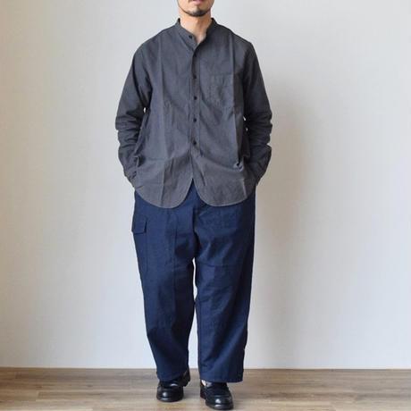 F.O.B FACTORY  OX BAND COLLAR SHIRT 後染めオックス  クラシカルバンドカラーシャツ