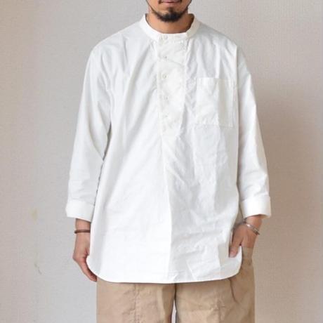 【新色オリーブ、入荷しました!】 AUDIENCE オーディエンス プルオーバーコックシャツ オフホワイト/チャコールグレー/オリーブ