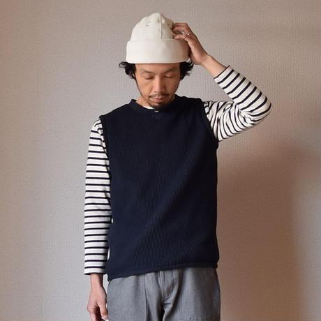 【完売御礼】Re made in tokyo japan  BIG WAFFLE PULL OVER VEST NVY  ビッグワッフルプルオーバーベスト ネイビー