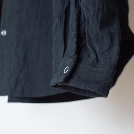 【完売御礼】MANUAL ALPHABET   GERMAN CLOTH V-NECK SHIRT BLK マニュアルアルファベット ジャーマンクロスVネックシャツ ブラック