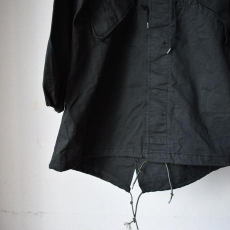 【米軍フィッシュテールコートを黒染め!】 MILITARY US ARMY NIGHT CAMO FIELD COATアメリカ軍フィールドコート ブラック