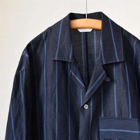 【シャツ×ジャケット風デザイン!】STILL BY HAND スティルバイハンド  キュプラリネン オープンカラー シャツジャケット