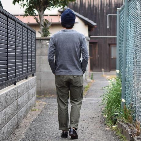 【RECOMMEND】Re made in tokyo japan NARROWRIB POCKET TRAINER アールーイーメイドイントーキョージャパン ナローリブポケットトレーナー チャコール