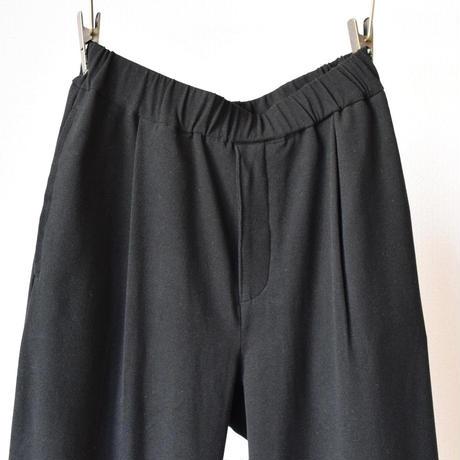 LA MOND  LOUNGE SUEDE PANT スエード調ラウンジパンツ ブラック