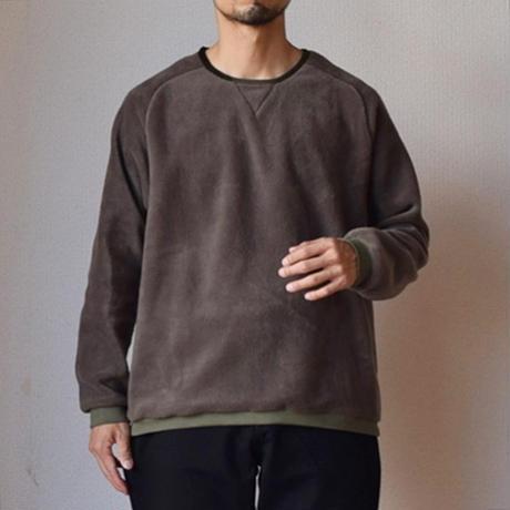 Re made in tokyo japan   フリース プルオーバーT ブラック/グレー/オリーブ/ブラウン