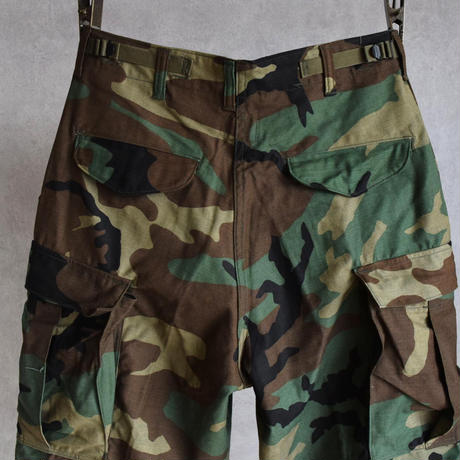 """MILITARY DEAD STOCK US MILITARY """"M-65"""" FIELD CARGO PANTS WOODLAND CAMO"""