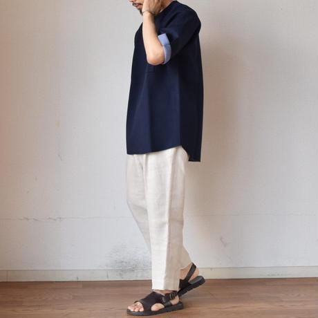 【ボンディング素材のTシャツ!】FLISTFIA DOUBLE FACE Tフリストフィア ダブルフェイス T ベージュ/ネイビー