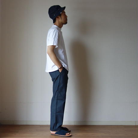 【RECOMMEND】nisica ニシカ GANSEY NECK CUTSEWN S/S ガンジーネックカットソー半袖 WHT ホワイト