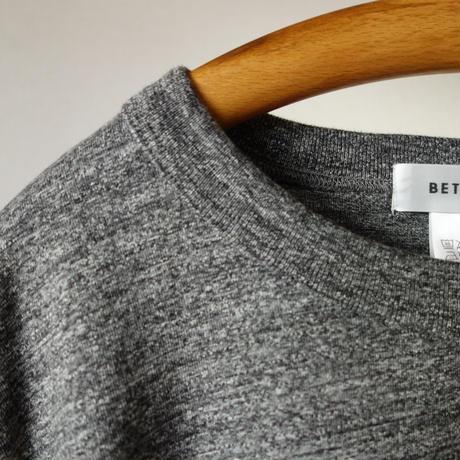 【2016新ブランド!】BETTER ベター MID WEIGHT CREW NECK L/S SHIRT ミッドウェイト クルーネック ロングスリーブ シャツ 杢チャコール