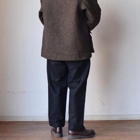 【今季はワイドイージースラックス!】STILL BY HAND スティルバイハンド ウールメルトンパンツ チャコール/ブラック/ダークブラウン