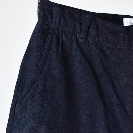 【コットンウール混の変わり種デニム!】STILL BY HAND C/W BLACK DENIM SEMI WIDE PANTS スティルバイハンド ブラックデニム セミワイドパンツ