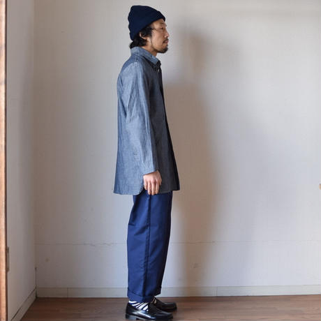 【RECOMMEND】nisica DHANGARHI COVERALLS NVY ニシカ ダンガリーカバーオール ネイビー