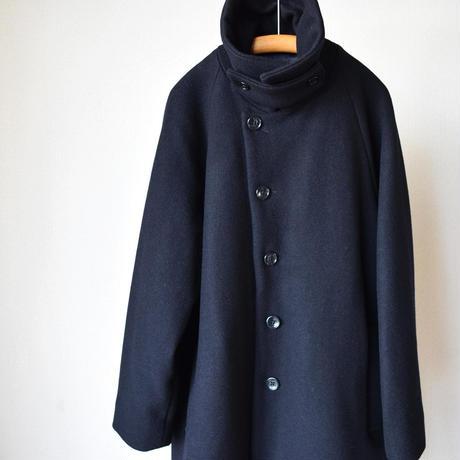 【上質ウールのステンカラーコート!】EEL Products  イール プロダクツ サザンカコート ネイビー