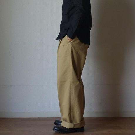 【RECOMMEND】KAFIKA カフィカ KFK080 CHINO WIDE TROUSERS チノワイドトラウザー BEG ベージュ