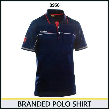 ブランドロゴポロシャツ ネイビーブルー/レッド 3327-8956
