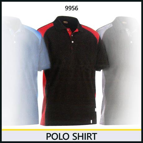 ポロシャツ ブラック/レッド 3324-9956