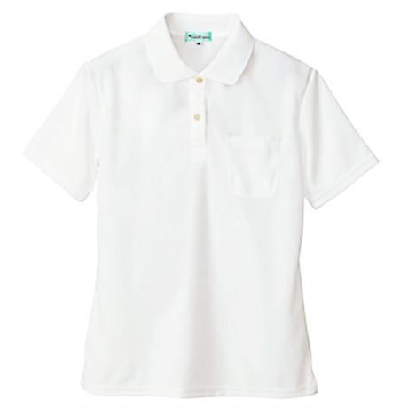 レディース半袖ポロシャツ ホワイト 10589-101