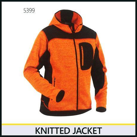 ニットジャケット オレンジ/ブラック 8219-5399