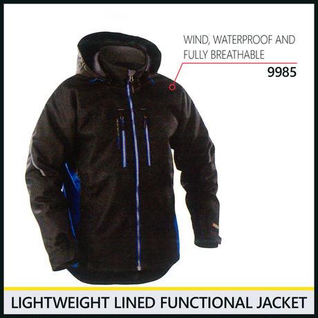 ライトウェイトジャケット ブラック/コーンフラワーブルー 4890-9985