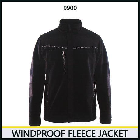 防風フリースジャケット ブラック 8225-9900