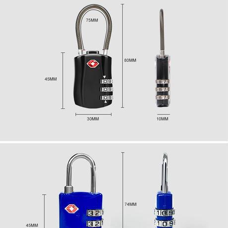 TSA荷物ロック南京錠