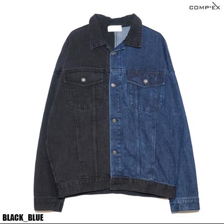 COMP®︎EX / HALF DENIM JACKET /  BLACK_ BLUE