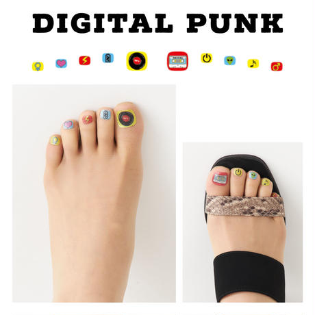 Britney TOKYO フットネイルストッキング Digital Punk