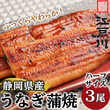 [送料込]静岡県産うなぎ蒲焼き(ハーフサイズ)3カット詰合せ【江戸川】