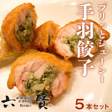 [送料込]鶏職人の「手羽餃子」5本セット【六賢】