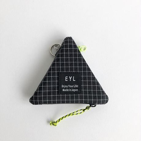 EYL / TRIANGLE COIN PURSE / DINEEMA X-GRID / BLACK / イーワイエル / トライアングルコインパース / ダイニーマ / ブラック
