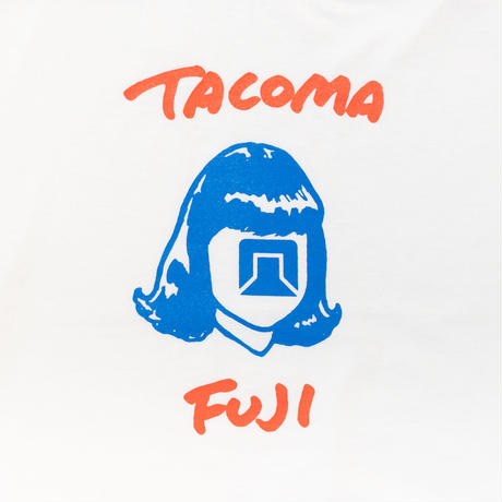 TACOMA FUJI RECORDS /TACOMA FUJI HW LOGO designed by Tomoo Gokita / タコマフジ / 五木田智央 / Tシャツ / ホワイト