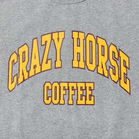TACOMA FUIJ RECORDS / CRAZY HORSE COFFEE TEE  designed by  Shuntaro Watanabe / タコマフジ / グレー