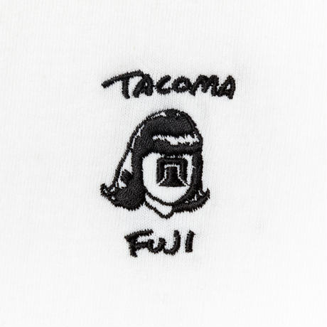 TACOMA FUJI RECORDS / HANDWRITING LOGO embroidery LS shirt / タコマフジ / ロゴ / 刺繍 /  ホワイト