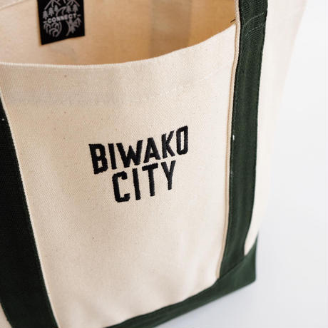 BIWAKO CITY   / EMBROIDERY LOGO TOTE BAG  / ビワコシティ / 刺繍 / ヘビートートバッグ