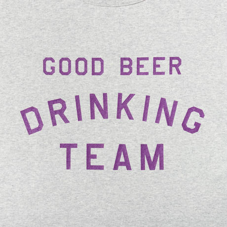 TACOMA FUJI RECORDS / GOOD BEER DRINKING TEAM  LS TEE designed by Shuntaro Watanabe / タコマフジ / オートミール