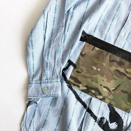 RYUJI KAMIYAMA / RE-MAKE SHIRTS / CAMO POCKET / 神山隆二 / リメイクシャツ