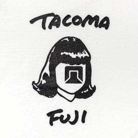 TACOMA FUJI RECORDS / TACOMA FUJI HANDWRITING LOGO / タコマフジ  / 五木田智央 / ホワイト