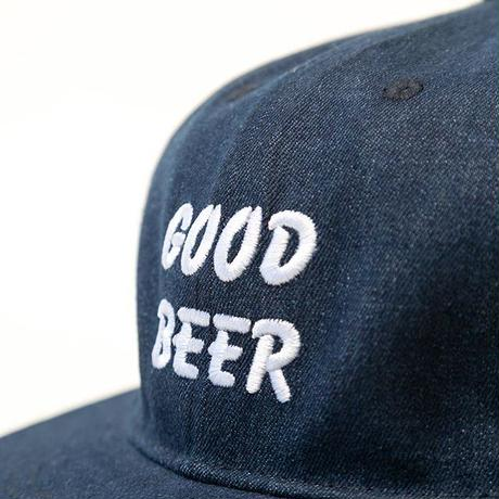 TACOMA FUJI RECORDS / GOOD BEER DENIM CAP designed by Jerry UKAI