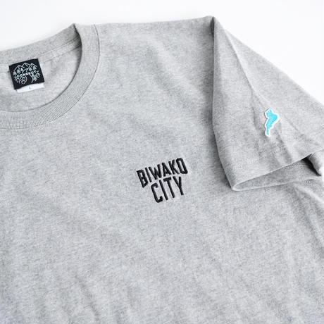 BIWAKO CITY   / EMBROIDERY LOGO TEE  / ビワコシティ / 刺繍 / Tシャツ / グレー