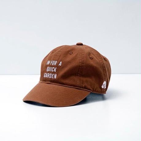 TACOMA FUJI RECORDS / IN FOR A QUICK GARDEN CAP designed by Jerry UKAI /BROWN/ タコマフジ / ジェリー鵜飼 / ブラウン