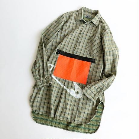 RYUJI KAMIYAMA / RE-MAKE SHIRTS / ORANGE POCKET / 神山隆二 / リメイクシャツ