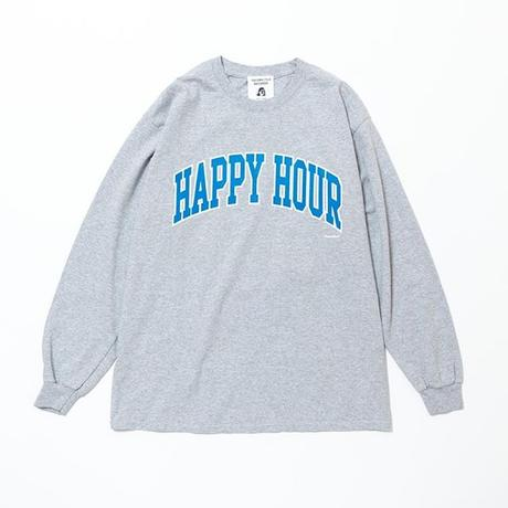 TACOMA FUJI RECORDS / HAPPY HOUR (LS) designed by Shuntaro Watanabe / タコマフジ / 渡辺俊太郎 / ヘザーグレー