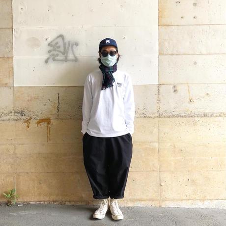 BIWAKO CITY / LONGSLEEVE TEE (embroidery ver) / ビワコシティ / 刺繍 / ロンT / ホワイト