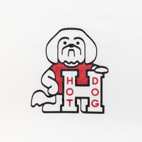 TACOMA FUJI RECORDS / HOT DOG LOGO TEE designed by Hiroshi Iguchi / タコマフジ / ホワイト