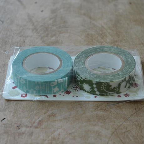 点と線模様製作所 / リスの森+小さな花 マスキングテープ2種セット E
