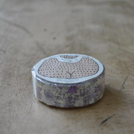 絵と木工のトリノコ / ちょうちょ マスキングテープ 1巻パック(むらさき)