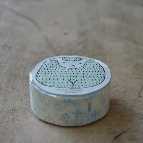 絵と木工のトリノコ / ほしぞら マスキングテープ 1巻パック(あお)